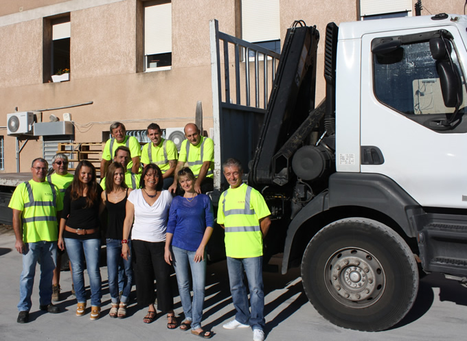 equipe strm, camion grue